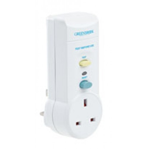 SafetySure White RCD Inline Adapter