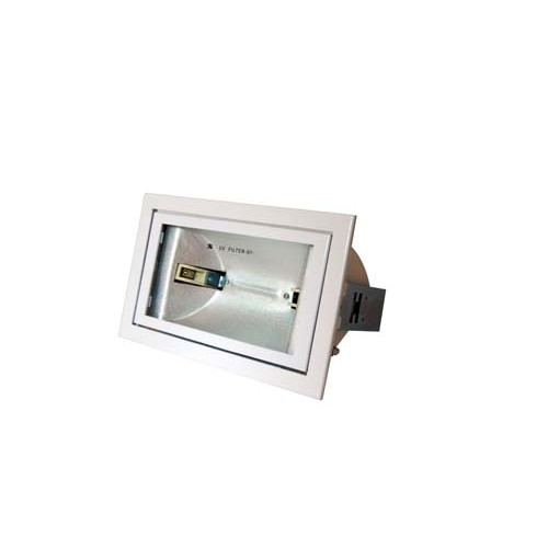 Commercial lights - Metal halide 150W rectangular white scoop spotlight