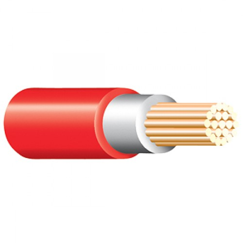 Red Tri Rated Cable Per 100m 0.5mm