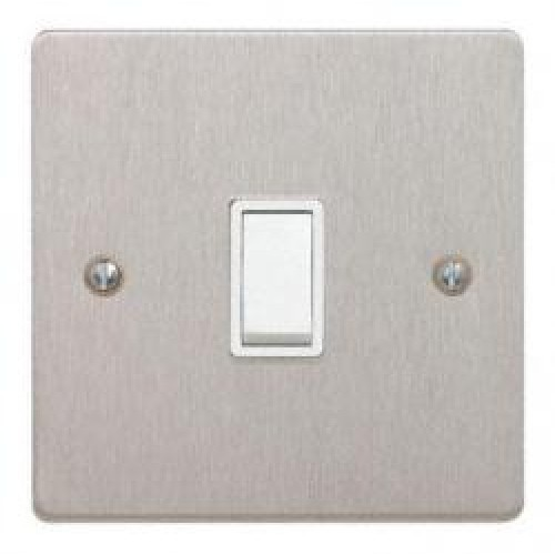 1 Gang 2 Way Switch Satin Chrome