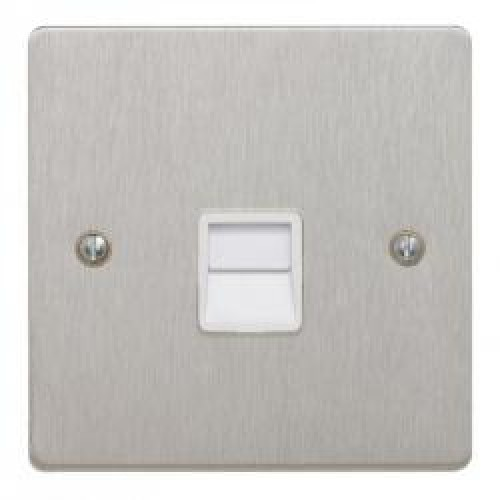 Satin Chrome Telephone Secondary Socket