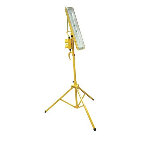 Site Lights - 110v (2 x 18w) Collapsible Tripod