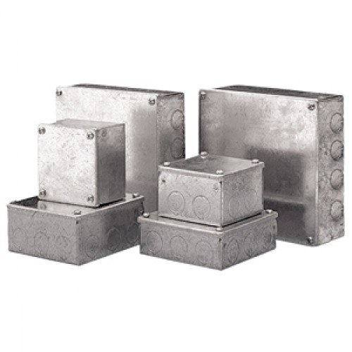 Pre galv Steel Adaptable Box 100 x 100 x 37.5
