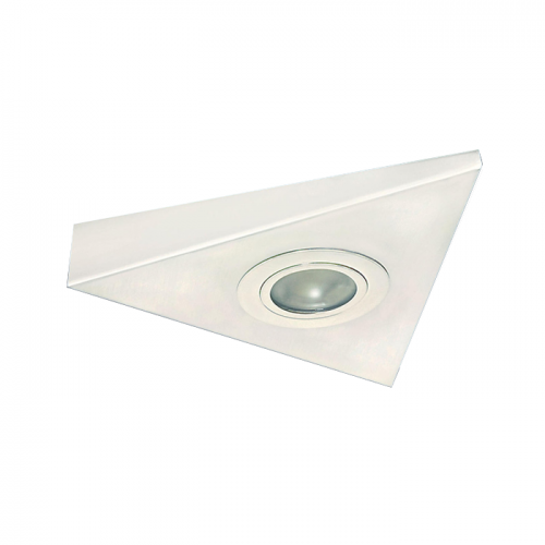 STI01W IP20 Mini Triangular Under Cabinet Fitting in White