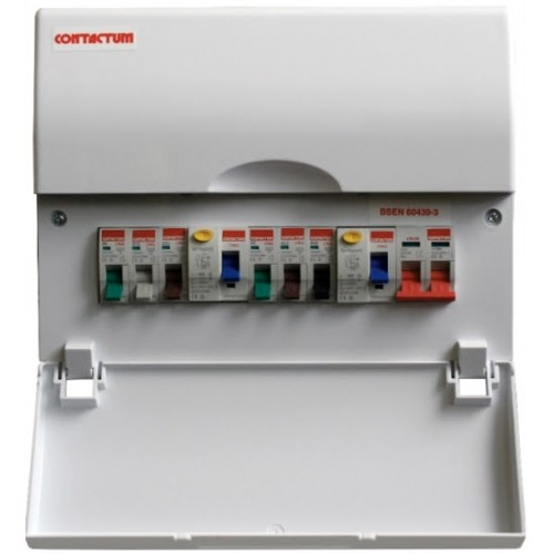 Contactum 6 Way Dual RCD High Intensity Consumer Unit