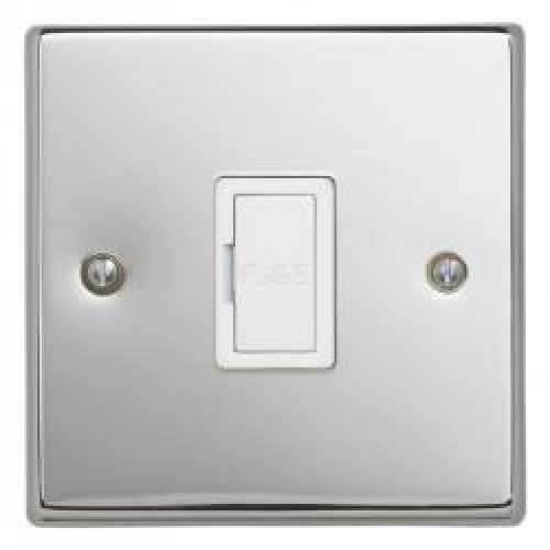 13A Switched Spur Polished Chrome with Flex Outlet