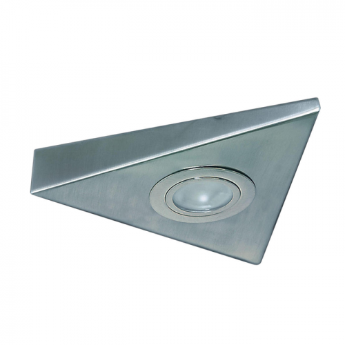 STI01CBR IP20 Mini Triangular Under Cabinet Fitting in Brushed Chrome