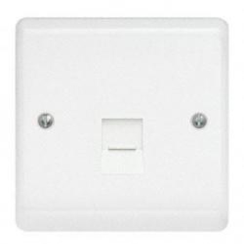 Aspire white RJ45 CAT 5E data socket
