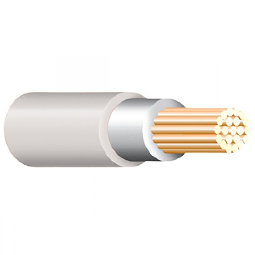 White Tri Rated Cable Per 100m 0.75mm