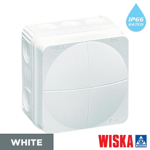 White-wiska-combi-junction-box-ip65