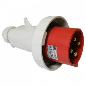 415V Red Plug 32Amp 3P + E IP67