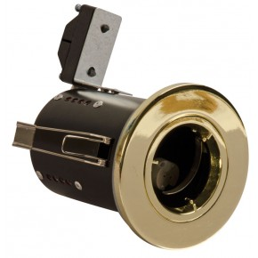 Fire Rated Downlights Die Cast Fixed Brass GU10
