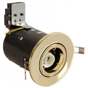 Fire Rated Downlights Die-Cast Brass Tilt GU10