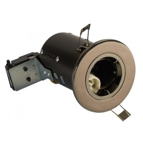 Fire Rated Downlights Die Cast  Black Chrome GU10
