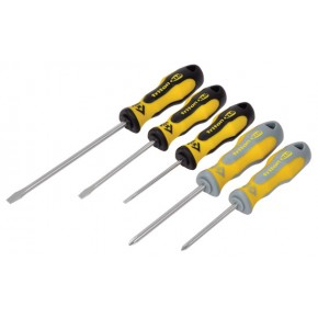 C.K Triton XLS Screwdriver - 5 Piece Set SL/PH contains Slotted parallel 4x100, Slotted flared 5.5x100, 6.5x150 PH1x75, PH2x100